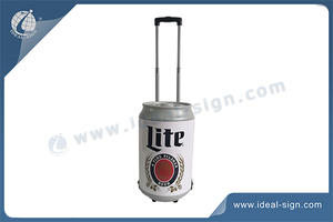 Can Shaped Cooler Ice Bucket With Wheel