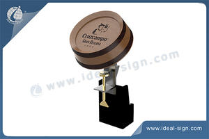 Customized Metal Bar Top Bottle Opener With Wooden Display