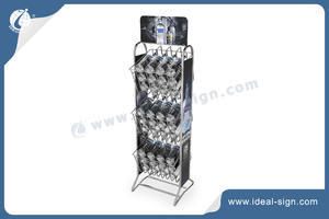 Metal Bottle Wine Rack With Poster Panel