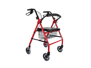 Low price push down handle brake aluminum rollator factory