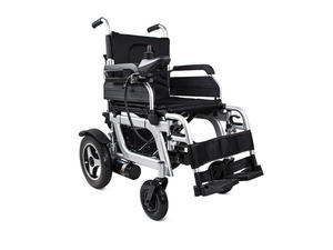 Low price folding reclining electric power foldable wheelchair factory