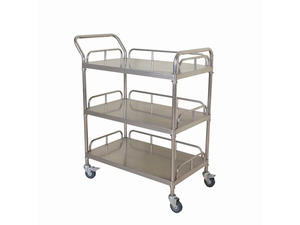 Low price medical stainless steel 3 layers treatment trolley manufacturers