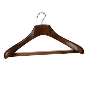 Wooden coat clothes suit hanger wholesale clothing hanger