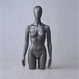 African Black Torso Bust Mannequin Half Body Torso Body And Stand Female Mannequin For Women Bikini(ZF Female Torso Mannequin)