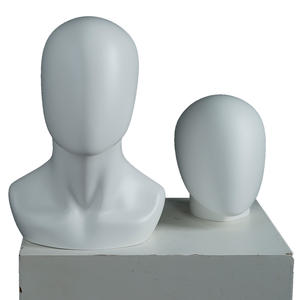 Hot sale mannequin heads no face mannequin display matte white fiberglass mannequin head
