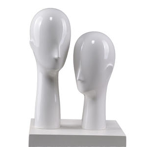 High glossy while male female head mannequin abstract fiberglass Cheap Mannequin Heads For Sale