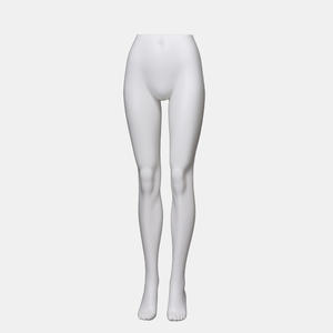 Customized matte white half body torso mannequins female leg for sale(QMH)