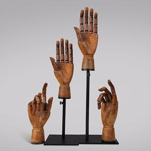 Customized vintage plastic flexible mannequin hands for accessories display