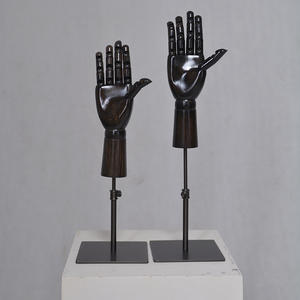 Customized black wooden manikin hand