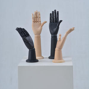 Customized black wooden mannequin hand display