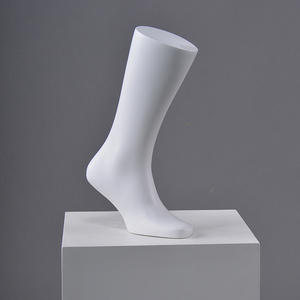 Wholsale white male foot mannequin for shoes