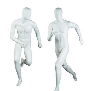 High quality matte white male muscle sport mannequin running fashion mannequin for sale(FPM)