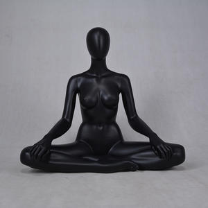 Black Female Mannequin Display Yoga Mannequins For Sale(KPM)