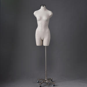 Customized fabric covered mannequins female mannequin bust form display (NDM)