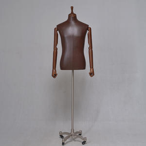 High Quality Leather Covered Business Suit Mannequin Half Body Male Mannequins  (YDM)