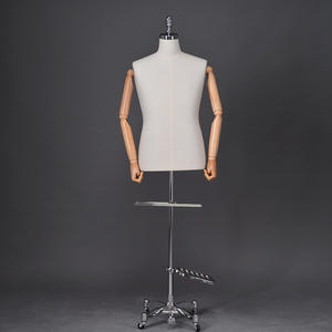 High quality fabric covered business suit mannequin half body male life size manikin  (ZDM)
