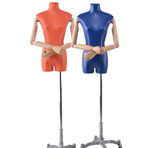 Customized Half Body Fiberglass Mannequin Leather Upper Body Female Mannequin (KFM)