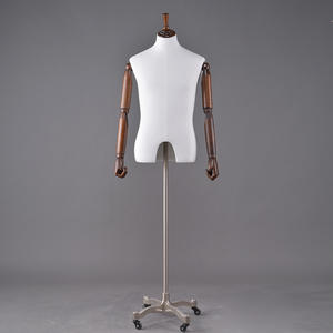 Customized cheap upper body mannequin fabric covered fiberglass cheap dress forms mannequin (UFM)