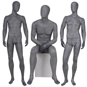 Sexy Lifelike Male Mannequins Fiberglass Vintage  Black Male Mannequin For Clothing Shop(XM Vintage Mannequin)