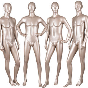 Full Body Gold Male Abstract Mannequin For Window Display(BM)