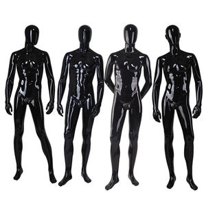 Customized Fashion Male Mannequin Wholesale Glossy Black Male Mannequin For Showcase Display(GTM)