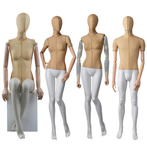Hot sale fiberglass fabric mannequin male and female manikin for window display
