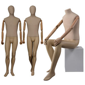 Fiberglass Male Dress Form Full Body Fabric Wrapped Mannequin Standing Man Mannequin(DWM)
