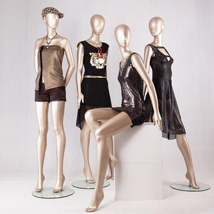 Customized Display Mannequin Abstract Female Dress Display Mannequin For Window Display(ZH)