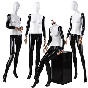 Fashion store window display female woman full body sitting mannequin suppliers abstract head mannequins for sale