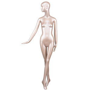 Fashion Store Gold Window Display Female Sitting And Standing Mannequin Sexy Full Body Style Gold Female Mannequins(GFM Series Female God Mannequin)