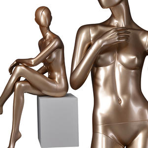 Fiberglass full body standing abstract display mannequins female abstract glossy mannequins(DYF female abstract glossy mannequins)