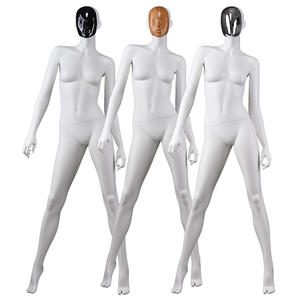 White Female Mannequin Customized Women Fashion Change Face Mask Manikins For Sale(KC)
