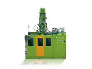 Vertical injection moulding machine for silicone