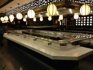 High quality Single layer sushi conveyor belt wholesaler
