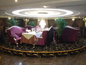 Hotel Banquet Hall Wooden Rotating Round Buffet Table