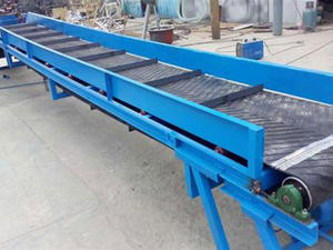 Customized Rubber Belt Conveyor for goods transmission factory