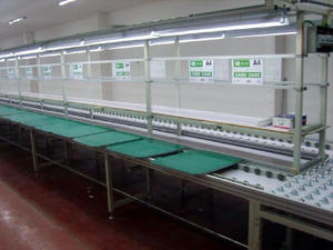 Best selling Auto conveyor belt for assembly production line manufacturer