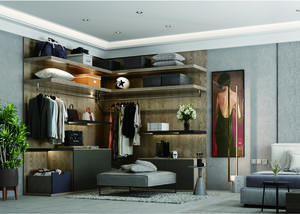 modern Walk in closet system gola profile system  price factory