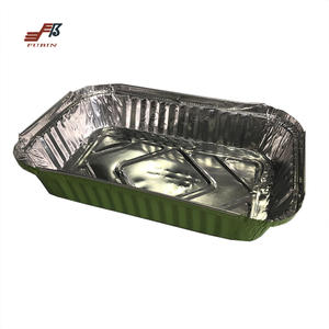 FBCA66 Rectangle Aluminum Foil Container And Recyclable Aluminum Foil