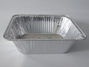 Factory wholesale products rectangular aluminium foil container large foil trays