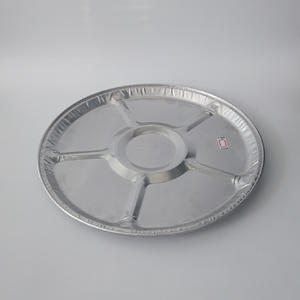 products round aluminium foil container Muliti-Compartments Foil Container