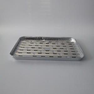 FBI340A BBQ Grill Tray //Aluminum Foil Rectangle Container Bbq Grill Aluminum Foil Tray Rectangular Aluminium Foil Barbecue Grill Tray Bbq Tray
