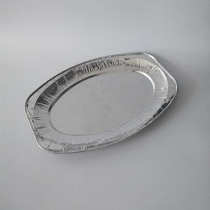 products oval aluminium foil container ,oval fish dish //aluminum foil plate