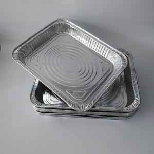 FB2633S 2300ml Rectangular Aluminium Foil Container 1/2 Size Shallow Container Roasting Hotel House Party Barbecue Pan Carry-out Freezing Pizze