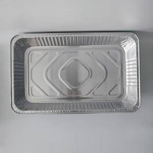 Wholesale rectangular foil trays for food large capacity aluminum foil tray