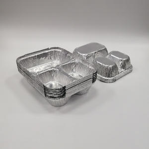 FB1622A Aluminium Foil Container //3 Compartments Container,rectangular Aluminium Foil Container