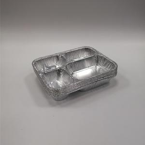 FB2318 650ml //Muliti-Compartments Foil Container //4 Conmartment Container