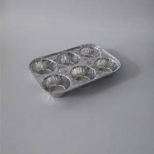 Muliti-Compartments Foil Container 6 muffin  aluminium foil container