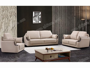 OEM raw wood Leather Sofa Supplier811 supplier