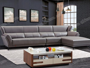 best price raw wood New Leather Sofa8083